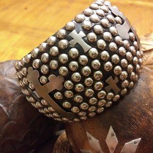 Wood and metal bracelet